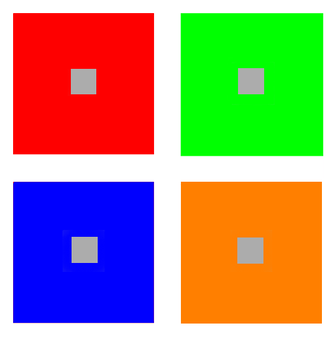 Squares complementary colors
