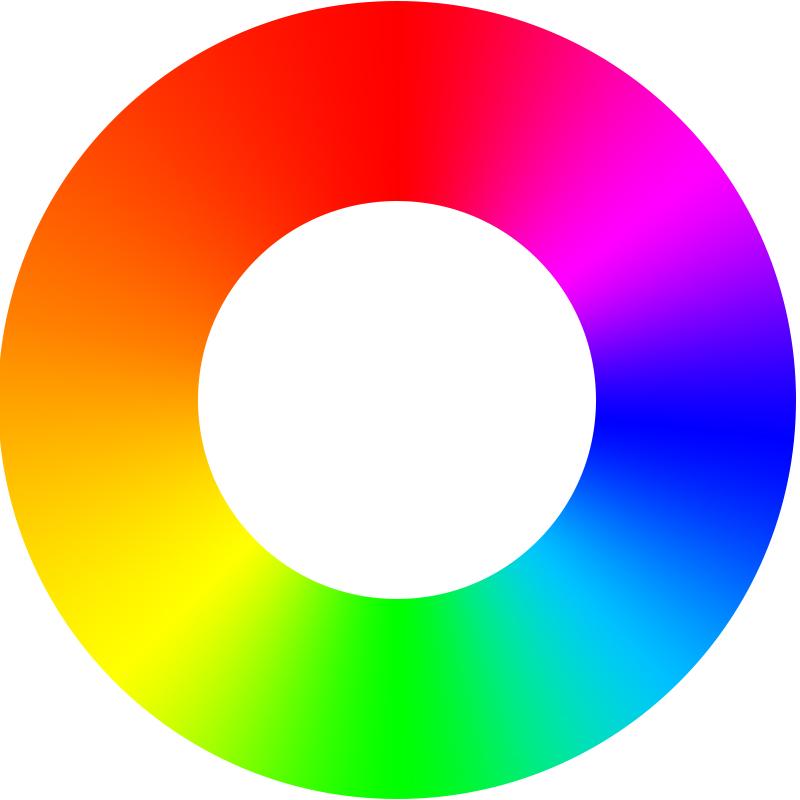 Цветовой круг и дополнительные цвета на нем