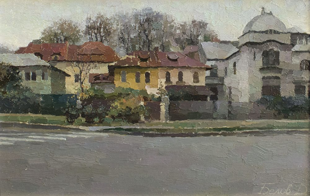 "Cityscape painting - Bucharest, ""Ady Endre street"" by artist Daniil Belov"