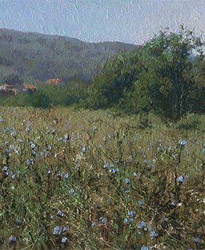 Ссылка на один из пейзажей маслом художника Даниила Белова