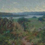 Wet autumn landscape oil painting Kolomenskoe