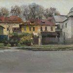 """Городской пейзаж маслом - картина """"Улица Ади Эндре"""""""