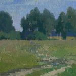 Пейзаж поля, картина маслом художника Даниила Белова.
