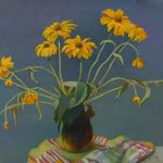 "Still life ""Yellow color of rudbeckia flowers"""