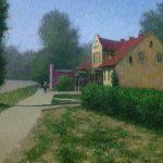 Современный городской пейзаж маслом - картина художника Данила Белова из города Гвардейск