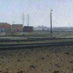 Картина весна пришла - пейзаж железнодорожной станции Северянин