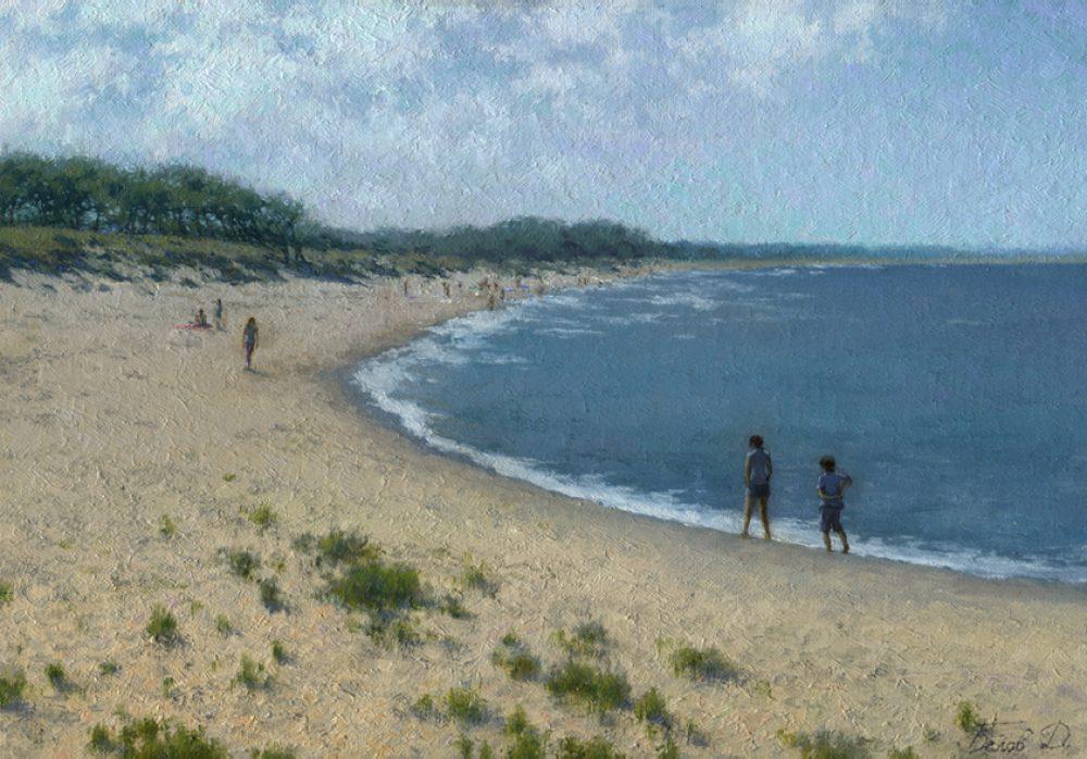 Landscape painting Weekend by artist Daniil Belov