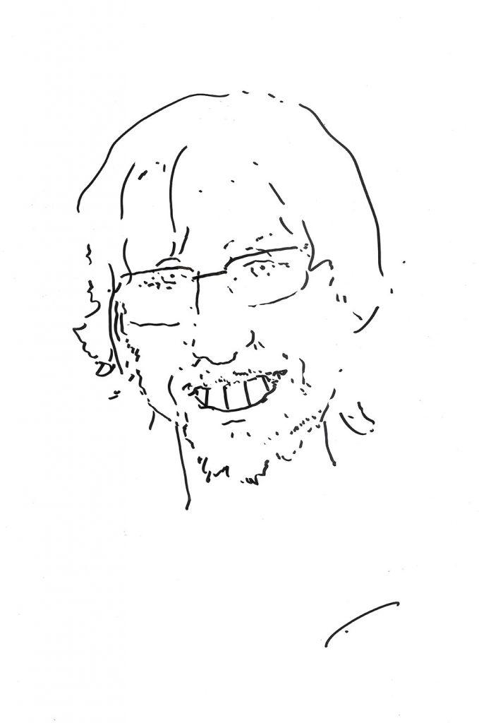Даниил Белов - художник Бато Дугаржапов шарж графика