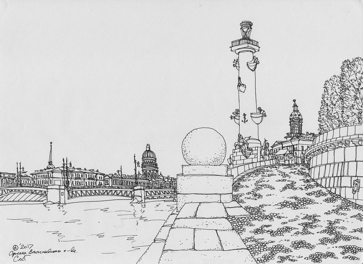 Картинка санкт-петербург раскраска
