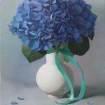 """""""Гортензии"""" - натюрморт с цветами в вазе"""