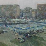 citiscape with market by daniil belov